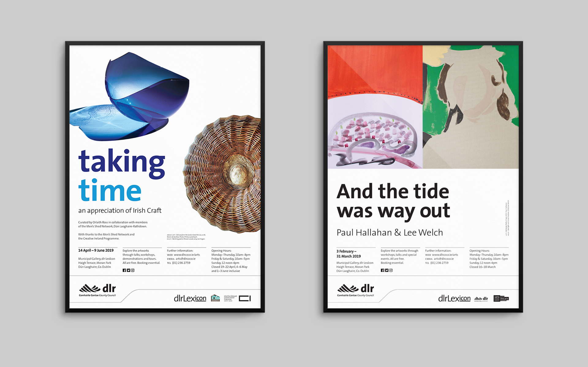 Municipal Gallery exhibition posters 1