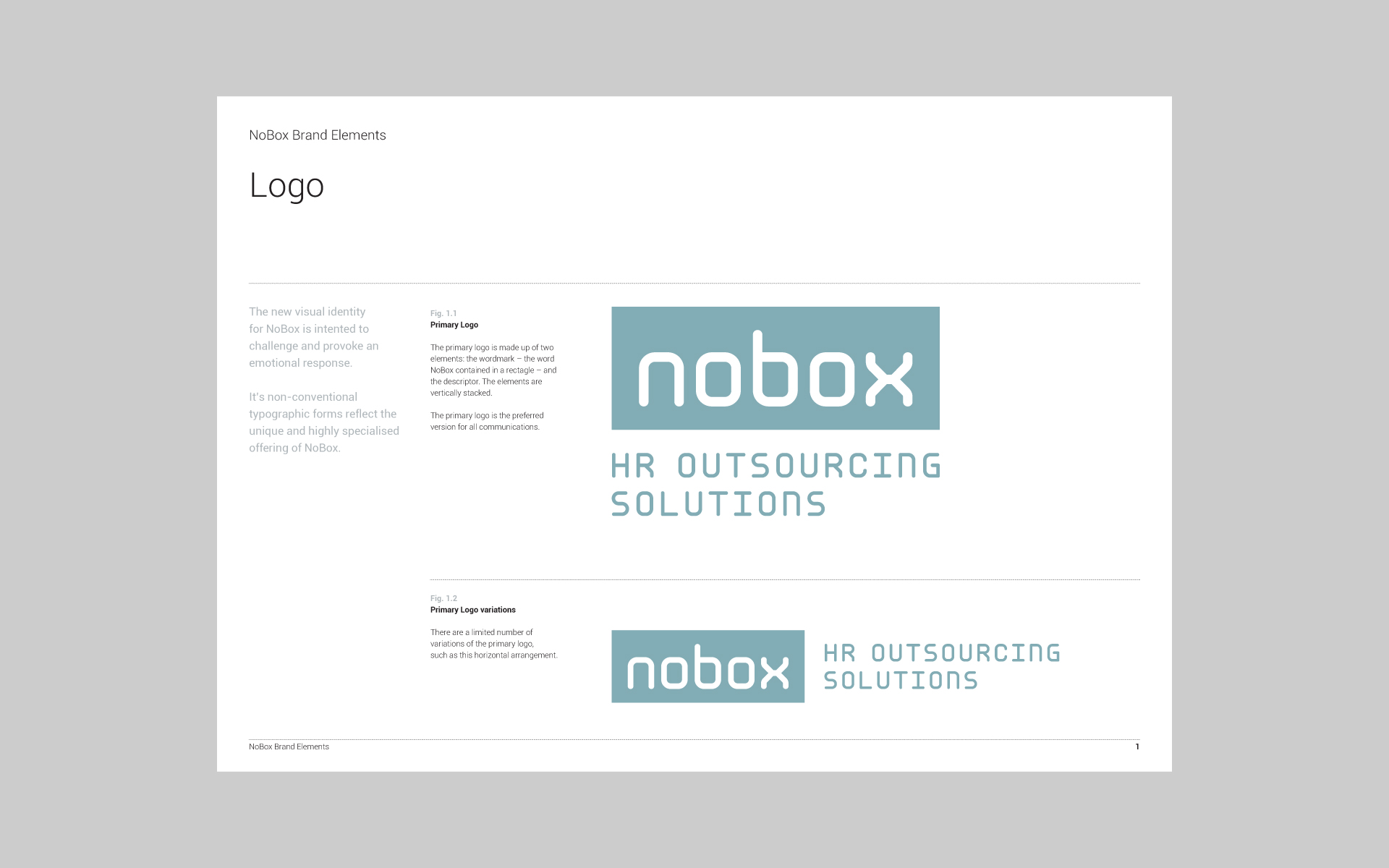 Nobox HR Outsourcing Solutions brand guide 1