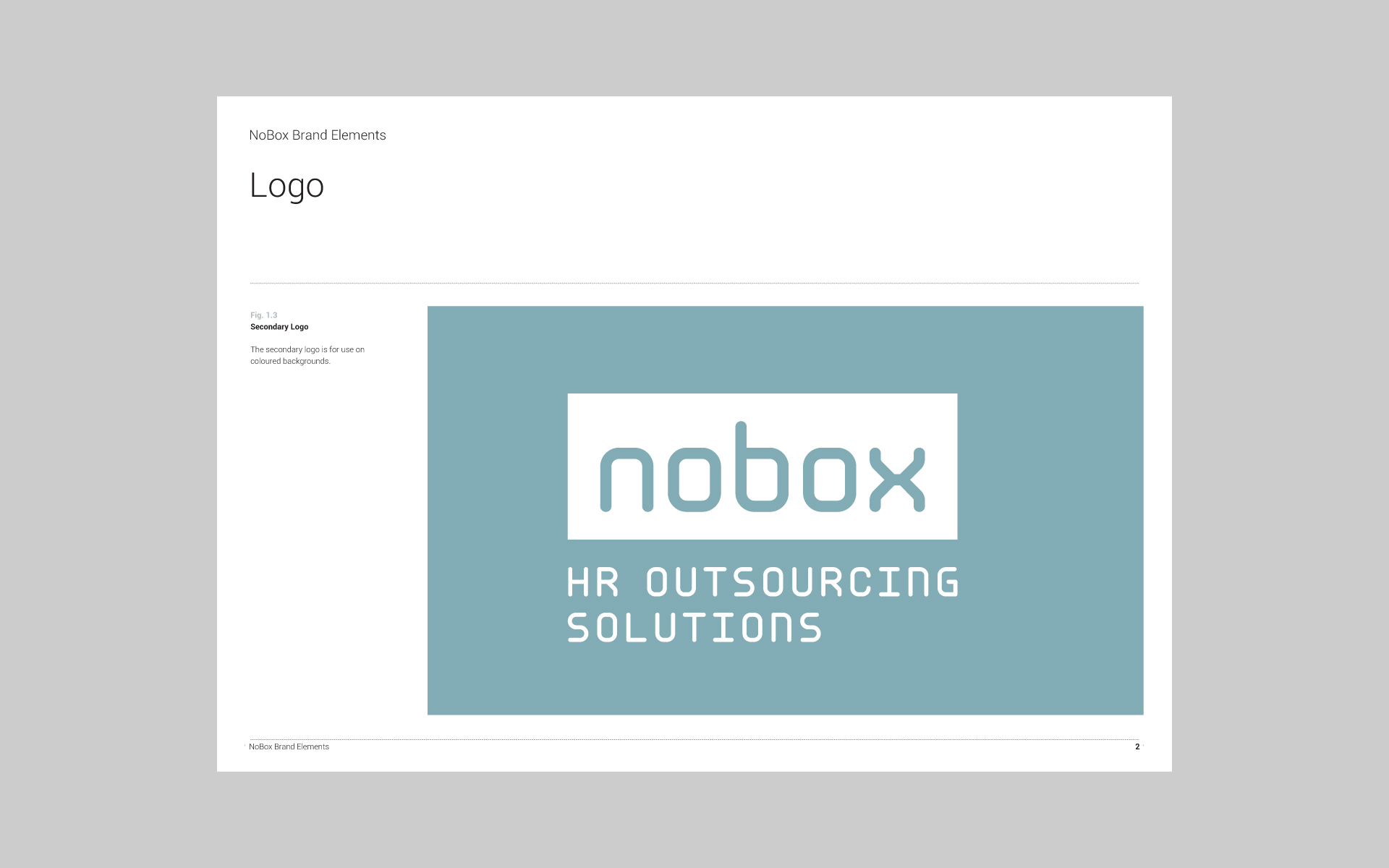 Nobox HR Outsourcing Solutions brand guide 2