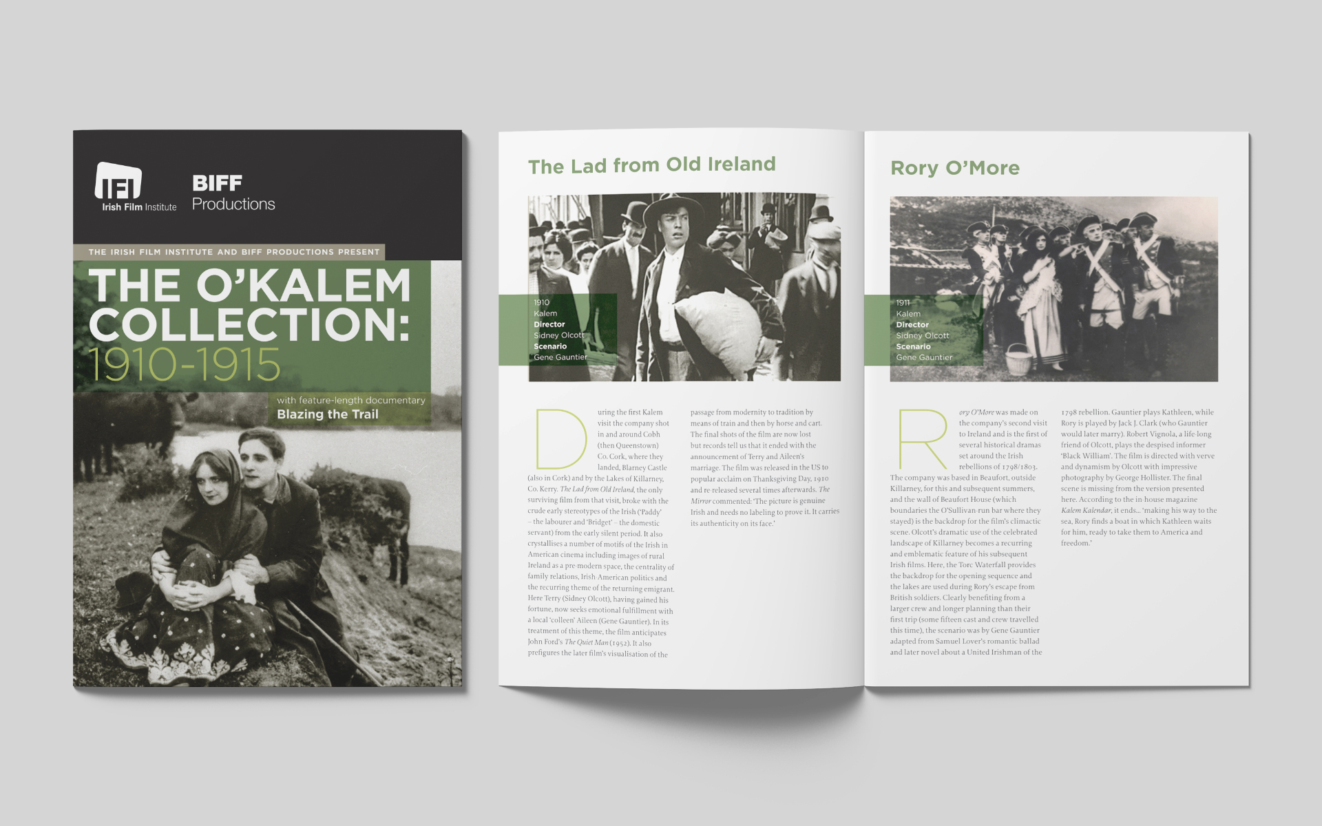 IFI Irish Film Archive O'Kalem Collection DVD package design