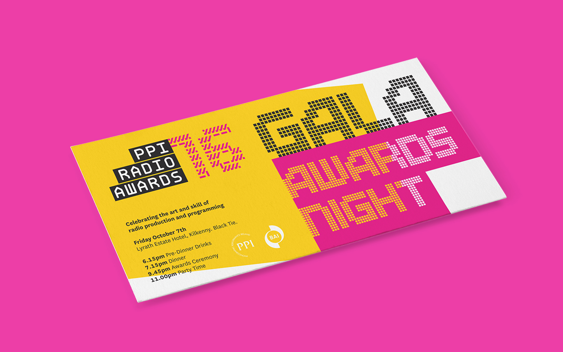 PPI Radio Awards print design